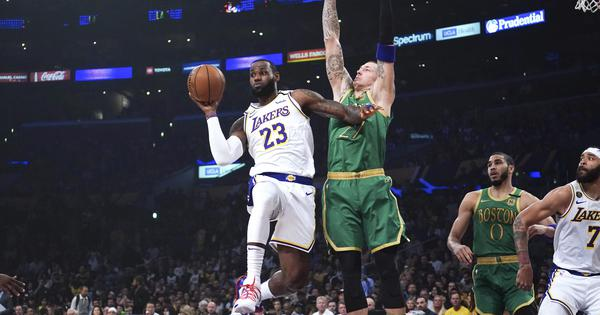 NBA: LeBron James steals the show in LA Lakers's thrilling win against arch rivals Boston Celtics