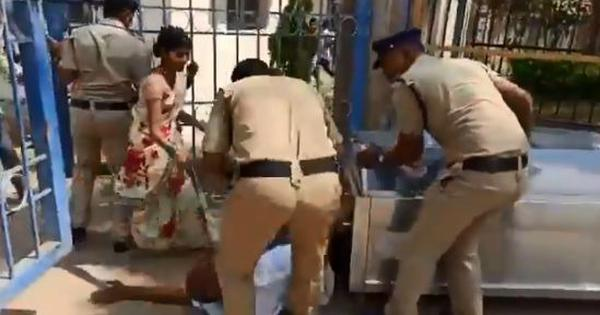 Caught on camera: Telangana policeman kicks father of 16-year-old girl who died mysteriously
