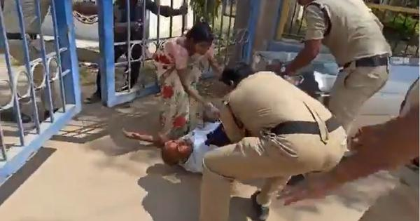 Telangana: Video shows police officer kicking father of girl who died by suicide, inquiry begins
