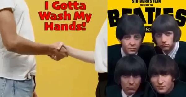 'Stayin' Inside, I Gotta Wash My Hands': The Bee Gees' and The Beatles' chartbusters remade