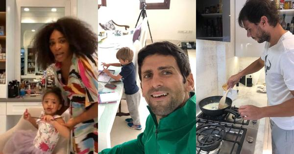 Nadal's cooking, Serena's daughter, Tsitsipas' rant: How tennis players are coping with isolation