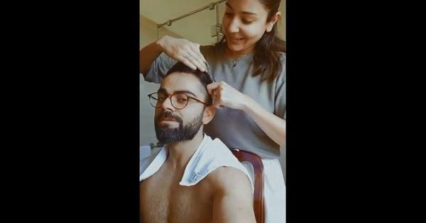 Coronavirus lockdown: Actor Anushka Sharma gives husband (and cricketer) Virat Kohli a haircut