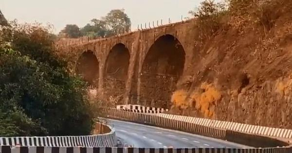 Watch: 190-year-old Amrutanjan Bridge on Mumbai-Pune Expressway demolished by controlled explosion