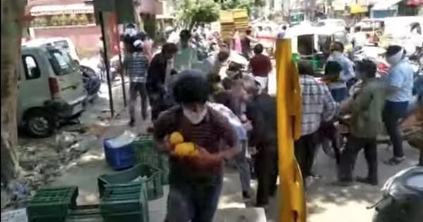 Watch: Passers-by grab free mangoes as fruit-seller is forced to leave crate unattended in Delhi