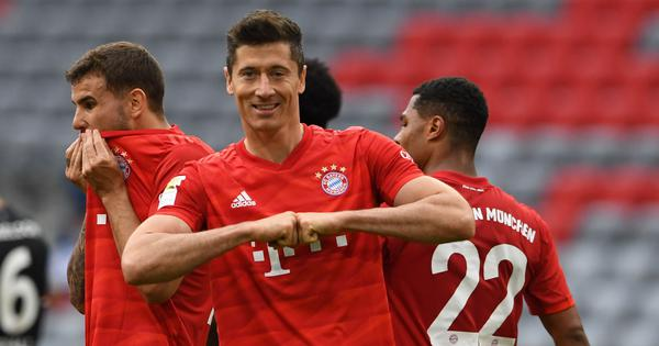Bundesliga: Lewandowski scores a brace as Bayern Munich drub Dusseldorf to open up 10-point lead