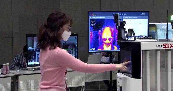 'Please take part in social distancing': Watch how a polite South Korean robot is fighting Covid-19