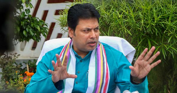 Tripura: 'Did not mean to threaten journalists,' clarifies CM, says media shows 'monkeys as tigers'