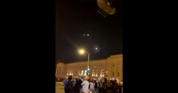 'A show of force': Military helicopters hover dangerously above protestors in Washington, DC