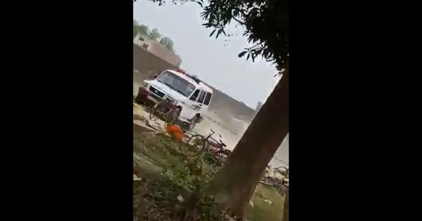 Watch: UP police personnel drive speeding vehicle into rural market, run over vegetables