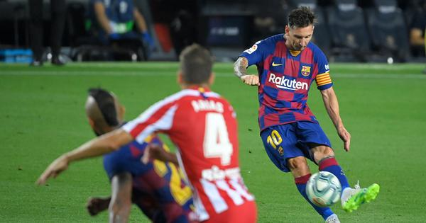La Liga: Messi scores 700th goal but Barcelona's title hopes take another blow with Atletico draw