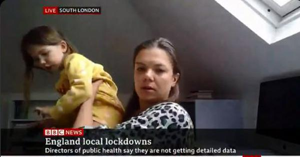 'Mummy what's his name?': Daughter crashes professor's live interview on BBC