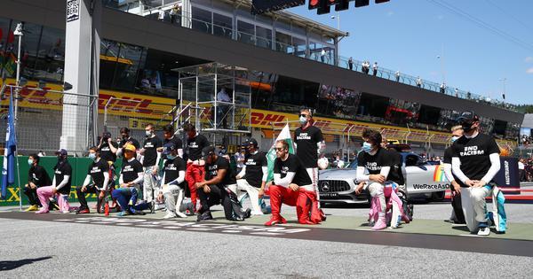 Watch: Hamilton, others take a knee at Austrian GP; Leclerc, Raikkonen, Verstappen don't join