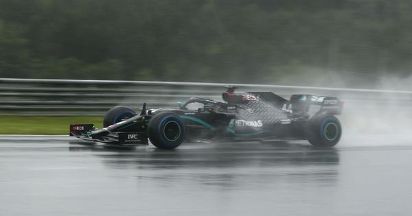 Styrian GP: Lewis Hamilton shines as he storms to pole position in rain-swept qualifying
