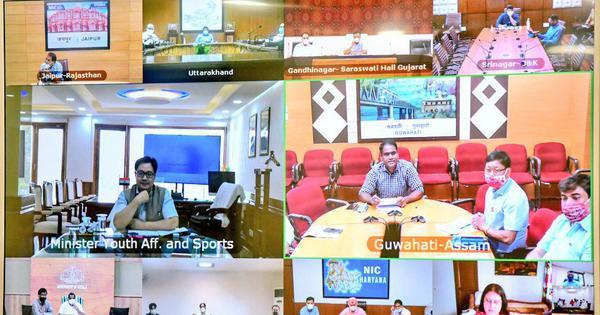 Coronavirus: Sports ministers of states and union territories discuss road ahead with Kiren Rijiju