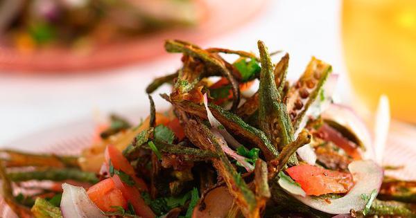 Crispy Okra Salad Recipe