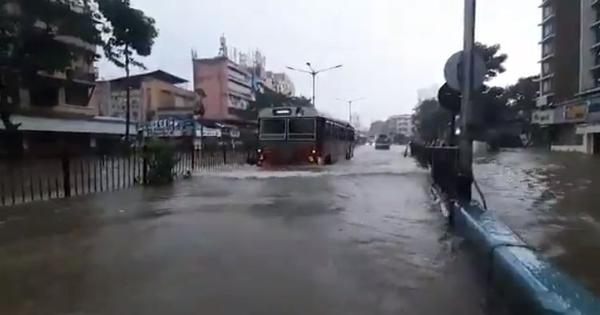 Watch: Scenes of flooding in Mumbai as overnight rains wreak havoc in the city