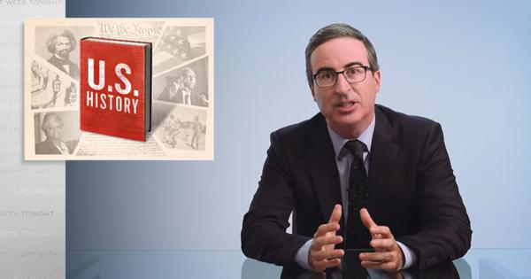 Watch: Satirist John Oliver analyses how racial history is taught in schools in the United States