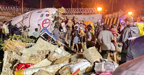 At least 20 dead as Air India flight crashes after skidding off Kozhikode runway