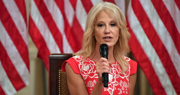 Senior White House staffer Kellyanne Conway says she is stepping down at the end of August