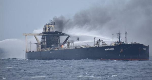Oil tanker catches fire again off Sri Lankan coast, says Indian Navy