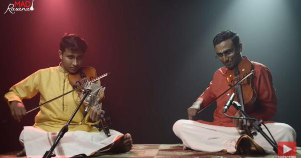 Watch: Here's a soothing rendition of 'Maa Mayura' presented by Carnatic violinists