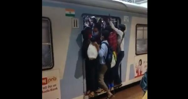 Caught on camera: This video shows overcrowded Mumbai local train with no physical distancing