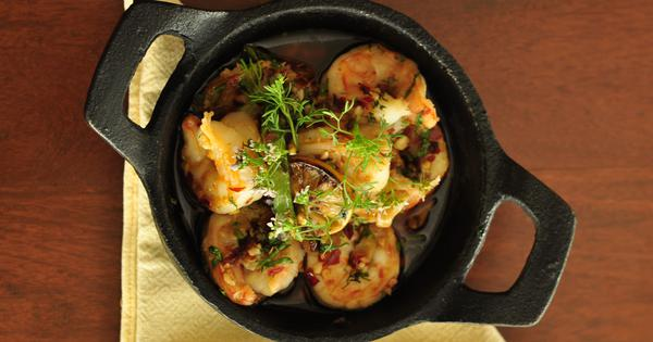 Portuguese Spicy Garlic Prawns Recipe