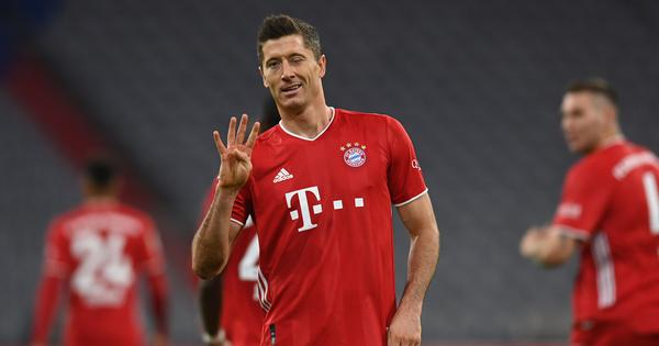 Watch: Lewandowski nets four times to help Bayern Munich edge seven-goal thriller in Bundesliga
