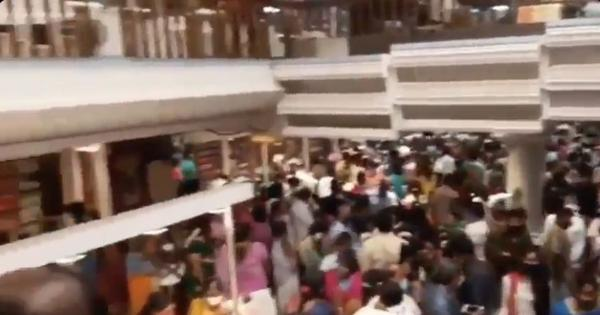 Watch: Textile showroom in Chennai sealed after video showing huge crowd in the shop went viral