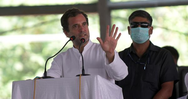 'Hum do humare do,' quips Rahul Gandhi on Narendra Modi stadium with Reliance and Adani ends