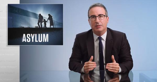 Watch: TV host John Oliver discusses how the Trump administration has jeopardised asylum in the US