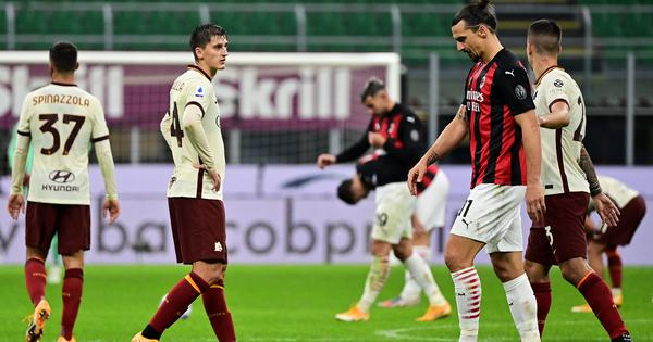 Serie A: Ibrahimovic scores twice but Roma level three times to hold AC Milan