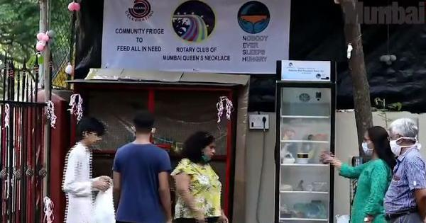 Watch: This community fridge for the poor in Bandra, Mumbai, has been installed by NGOs