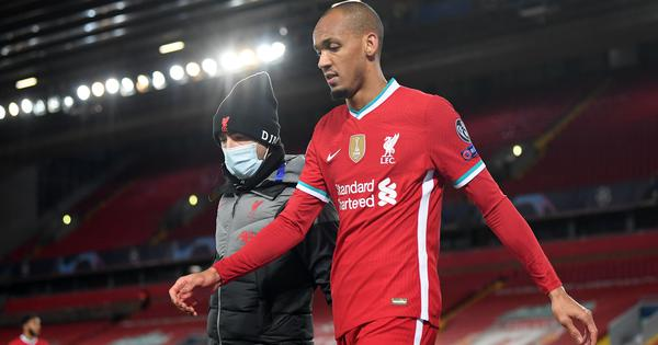Champions League: Liverpool suffer Fabinho injury blow on 'tough night' against Midtjylland