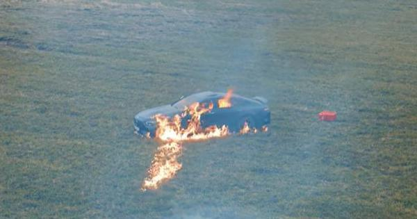 Watch: Russian video blogger sets his Rs 2.42 crore-Mercedes Benz on fire