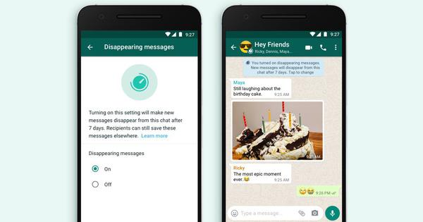WhatsApp launches new disappearing messages feature