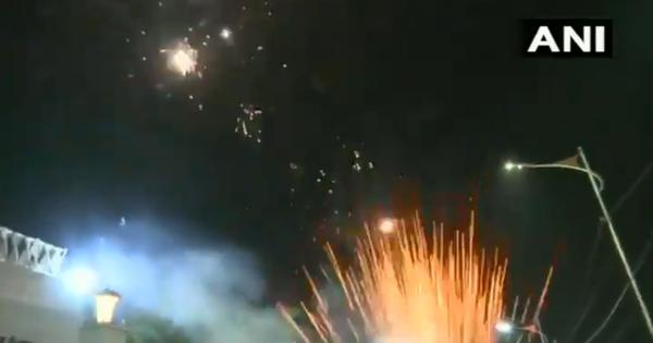 Watch: Firecrackers, celebrations outside Asaduddin Owaisi's house after Bihar elections