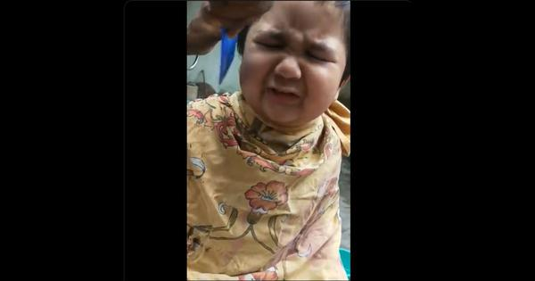 Watch: This child's angry, unhappy response to getting a haircut is now viral on social media