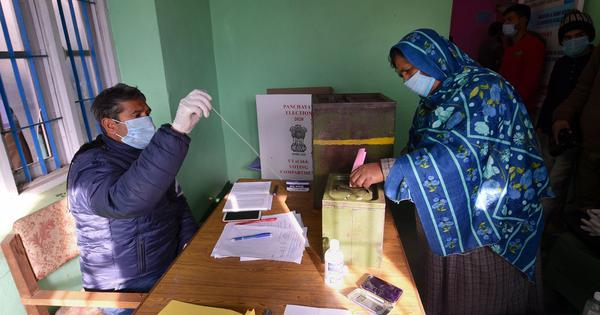 What drove voters to the polling booth for local government polls in Kashmir?