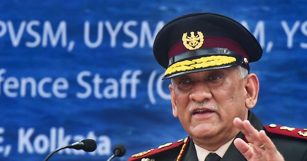 US pullout from Afghanistan should not create space for disruptors to step in: General Bipin Rawat
