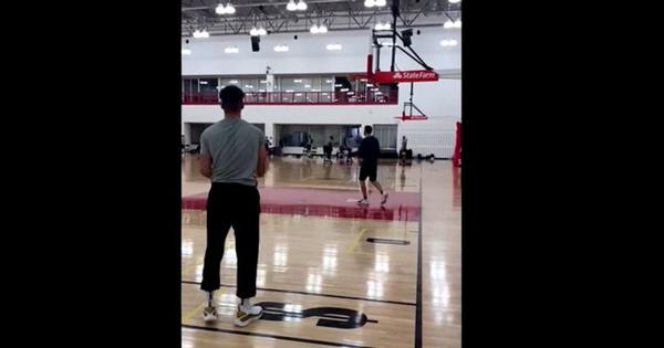 Watch: US basketball player Stephen Curry shoots over 100 successive three-pointers at practice