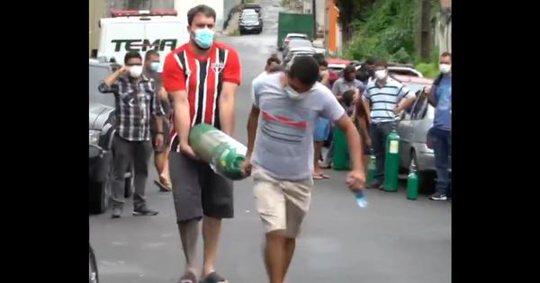 Watch: Patients in Brazil's Manaus city struggle to breathe as oxygen runs out during the pandemic