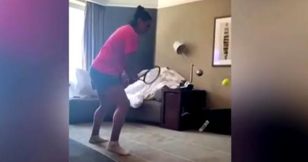 Watch: How quarantined Australian Open tennis players are staying healthy and busy