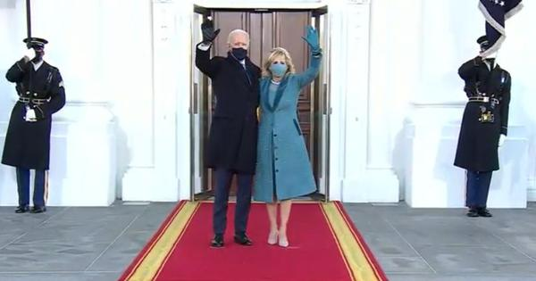 Watch: The moment US President Joe Biden entered his official residence, the White House