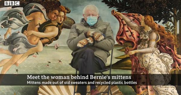 Watch: Meet the woman behind Bernie Sanders's mittens made of old sweaters, recycled plastic bottles