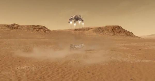 Video: Watch the moment when Nasa's Perseverance rover landed on Mars