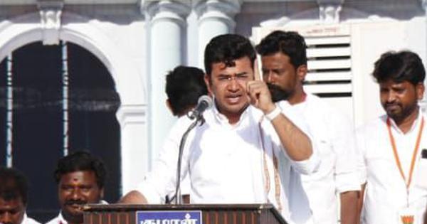 DMK is 'anti-Hindu', claims BJP MP Tejasvi Surya