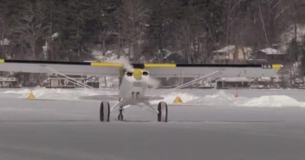 Watch: 2,600-foot runway on frozen lake opens for pilots to land their planes