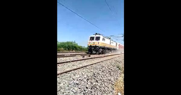 Watch: Trials for new three-tier train coaches show one speeding past at 180 kilometers an hour