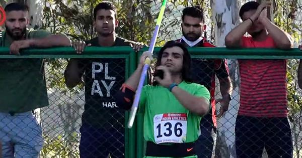 Indian athletics: Javelin thrower Neeraj Chopra breaks his own national record on return to action